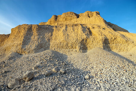 sand quarry: Sand quarry in evening light