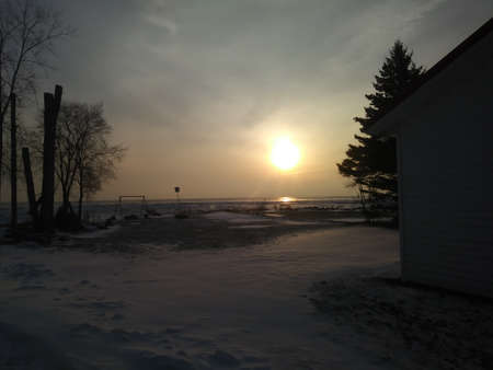 Frozen Lake Huron Sunrise