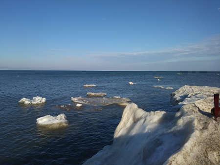 Frozen Lake Huron Stock Photo - 96288242