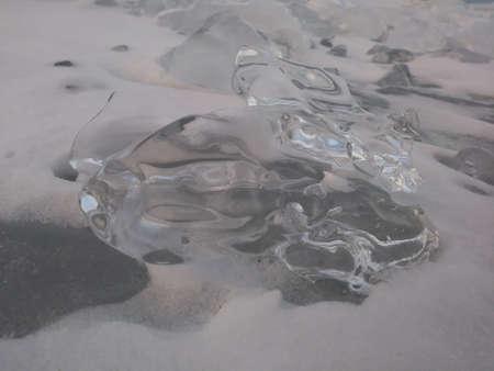 Frozen Lake Huron Stock Photo - 96295043