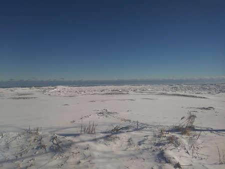 Frozen Lake Huron Stock Photo - 96312544