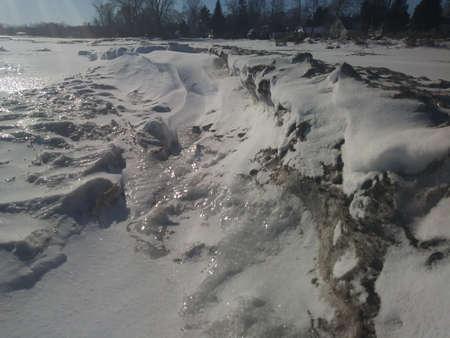 Frozen Lake Huron Stock Photo - 96274817