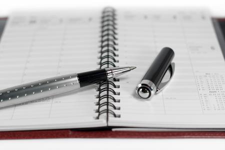 ボールペンでオープン日プランナー 写真素材