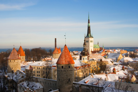 tallinn: View on old city of Tallinn. Estonia
