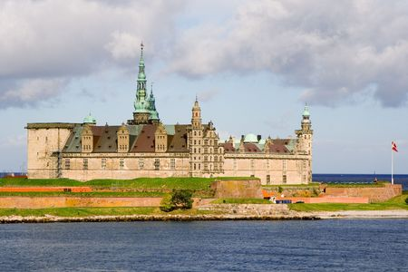 Castle of Hamlet in Elsinore. Denmark