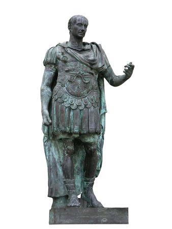 ローマ皇帝のジュリアス ・ シーザーの像 写真素材