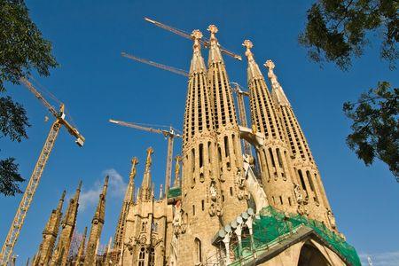 Sagrada Familia by Antoni Gaudi. Barcelona, Spain (2) Editorial