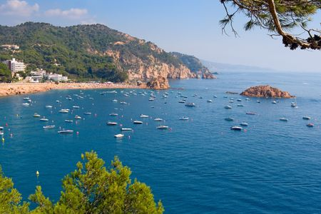 Costa Brava landscape near Tossa. Catalonia, Spain