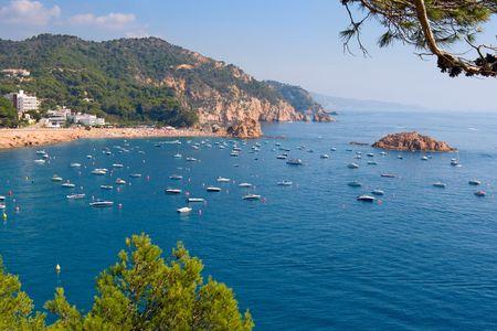 costa brava: Paysage Costa Brava � proximit� de Tossa. Catalogne, Espagne Banque d'images