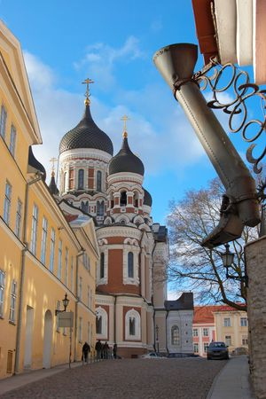 Tallinn, Estonia. View of a Alexander Nevsky cathedral Stock Photo - 2569448