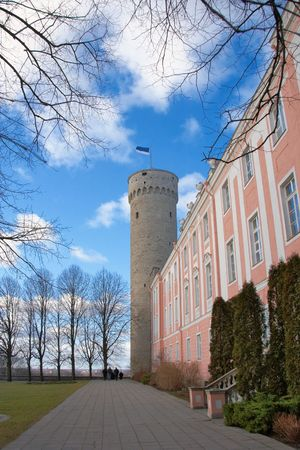 Estonian parliament and tower  photo