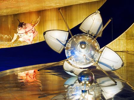 Russian satellites. Museum of Space. Moscow photo