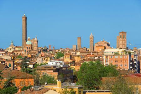 ボローニャのビュー。イタリア エミリア = ロマーニャ州