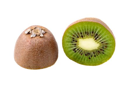 two and a half: Kiwi fruit cut on two half