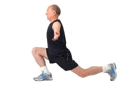 Fit senior man doing exercise