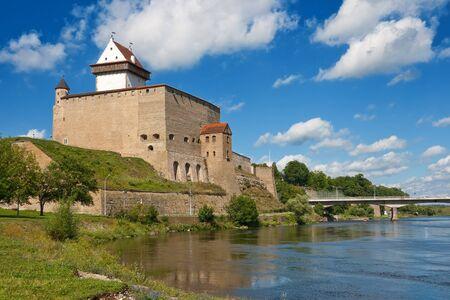 estonia: Herman castle in Narva. Estonia Stock Photo
