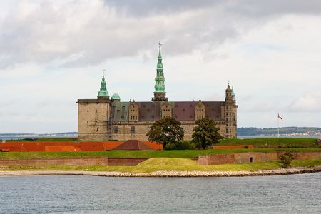Castle of Hamlet in Elsinore. Denmark