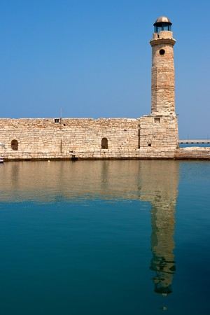 rethymno: Old Venetian lighthouse on the harbour at Rethymno, Crete