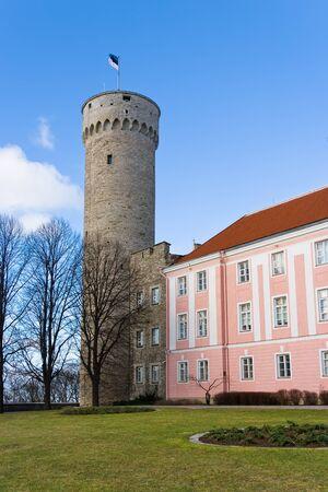 Herman Tower and Parliament building. Tallinn, Estonia Stock Photo - 8810053