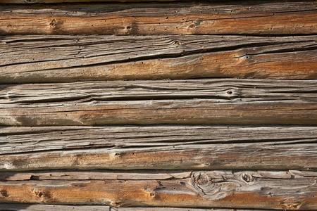 Old log cabin exterior wall photo