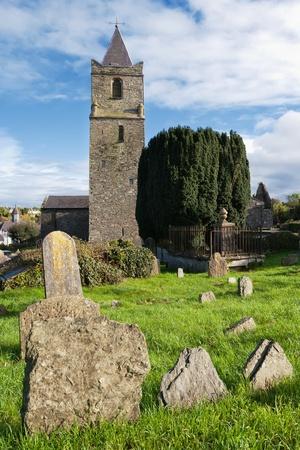 Old tombstones in graveyard of St. Multose church. Kinsale, Co Cork, Ireland