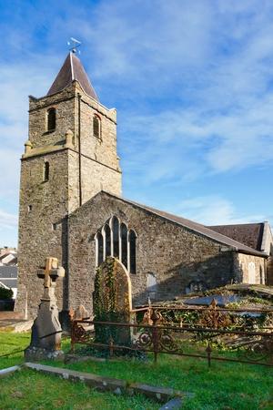 co cork: Old tombstones in graveyard of St. Multose church. Kinsale, Co Cork, Ireland