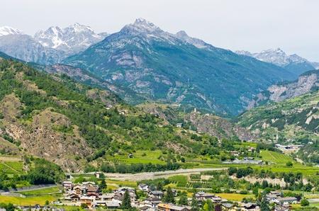 aosta: Mountain landscape of the western Alps. Aosta Valley. Italia
