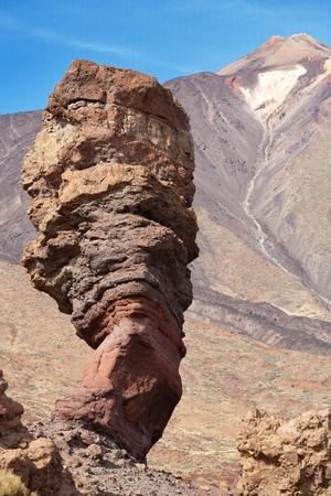 Roques de Garcia and Pico del Teide, Teide National Park, Tenerife, Canary Islands, Spain, Europe Stock Photo - 12679315
