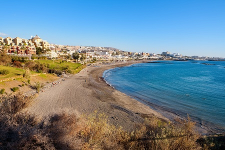 adeje: Playa Fanabe. Costa Adeje. Tenerife. Canary Islands. Spain