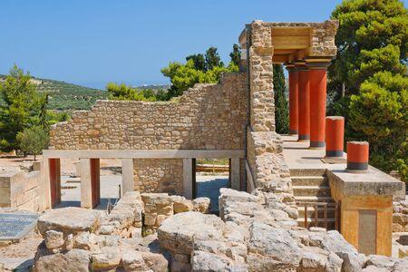 North Entrance of Knossos palace  Crete, Greece