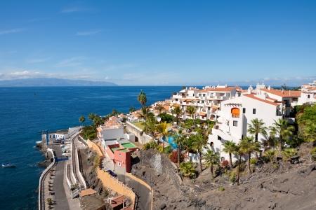 プエルト ・ デ ・ Santiago テネリフェ島、カナリア諸島、スペインのビュー 写真素材