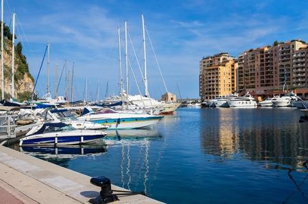 The Port de Fontvieille at Monaco, France photo
