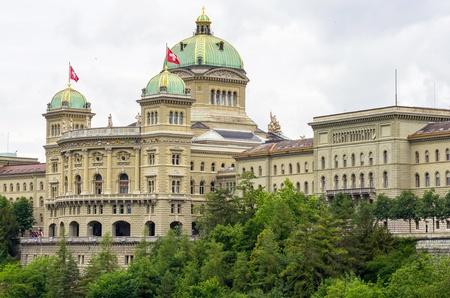 Schweizer Parlament Gebäude Bundeshaus Bern, Schweiz, Europa Standard-Bild - 17970218