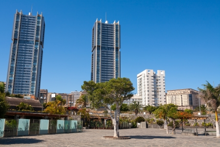 View of the Downtown in Santa Cruz  Tenerife, Canary Islands, Spain Stock Photo - 18169206