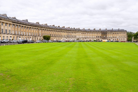 avon: The Royal Crescent  Famous terrace row of houses  Bath, Somerset, England