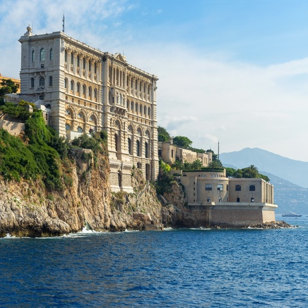 oceanographic: View of Oceanographic Museum of Monaco  Monte Carlo