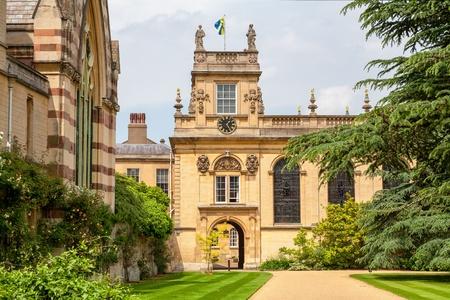 Voorkant Vierhoek van het Trinity College Oxford University, Oxford, England