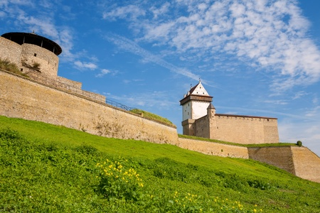 herman: Hermann fortress  Bastion Fortuna and Castle of the Order of Teutonic Knights  Narva, Estonia, Baltic States, Europe