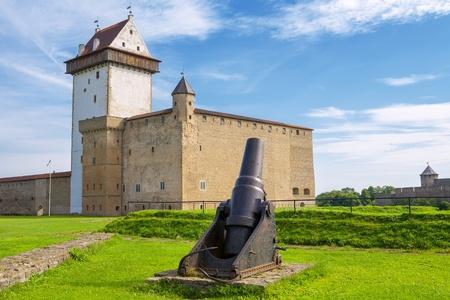 herman: Old cannon near Hermann castle  Narva fortress, Estonia