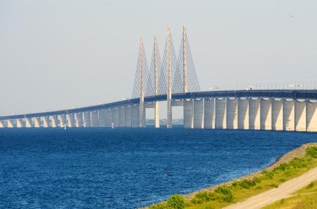 エーレスンド橋間デンマークそしてスウェーデン、ヨーロッパ