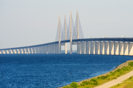 Oresund Bridge between Denmark and Sweden, Europe