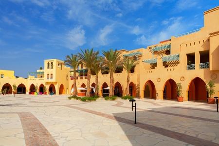 Square in Abu Tig Marina. El Gouna, Red Sea, Egypt
