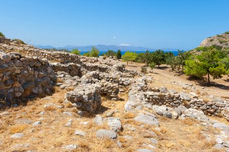 minoan: Ruins of the ancient Minoan settlement Gournia  Crete, Greece