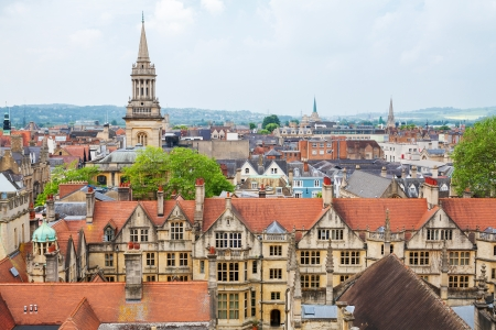 Cityscape of Oxford  Oxfordshire, England