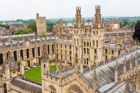 View of All Souls College at the university of Oxford. Oxford, England