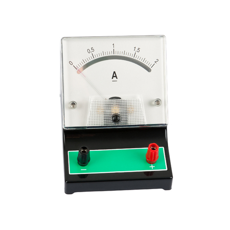 ammeter: School ampermeter - isolated on a white background  Stock Photo