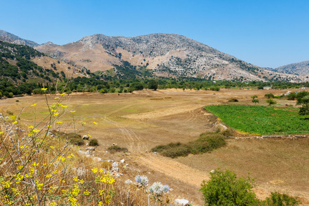 View of countryside at Lasithi Plateau. Crete, Greece photo
