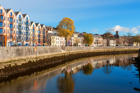 river county: St Patricks Quay on the north channel of river Lee. Cork city, county Cork, Ireland Stock Photo