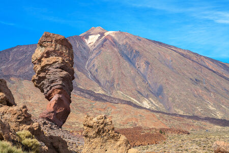 Roques de Garcia and Pico del Teide. Teide National Park, Tenerife, Canary Islands, Spain, Europe photo