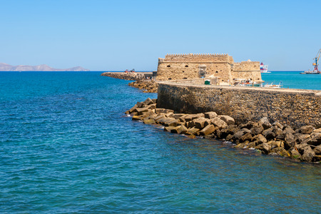 Venetian Fortress of Rocca al Mare in Heraklion harbour. Heraklion, Crete, Greece photo